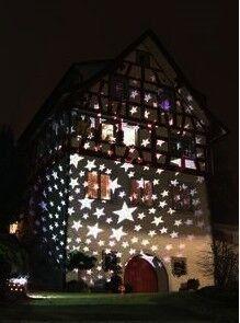 Esnow Wasserdichte Landschaft Led Projektion Licht Outdoor, Weihnachten  Projektor Lampe Umzug Schneeflocke, Urlaub,