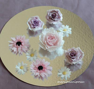 Marsispossu: sokerimassakukkia, sugarpaste flowers