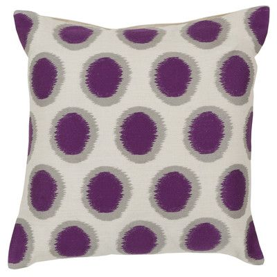 Surya Pretty Polka Dot Linen Throw Pillow