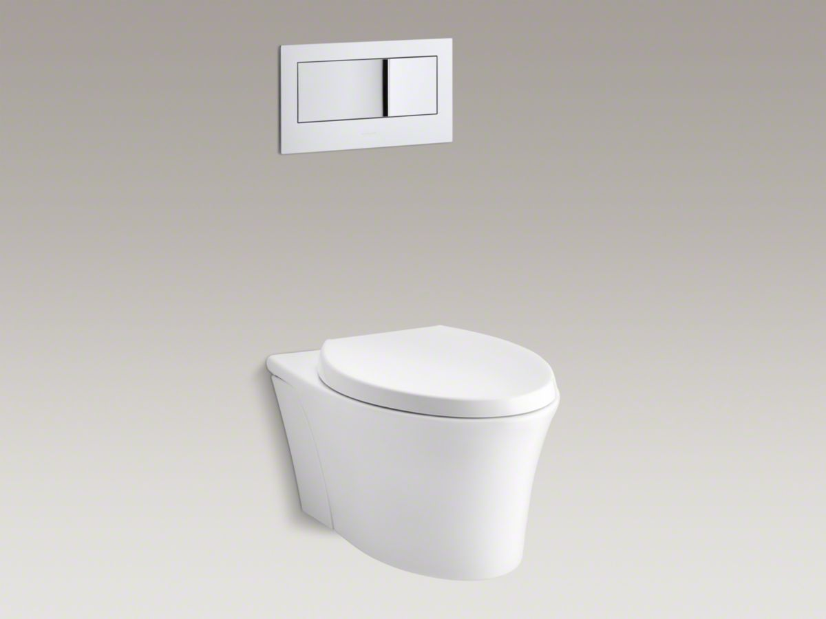Kohler Veil™ One-piece elongated dual-flush wall-hung toile (WC 116 ...