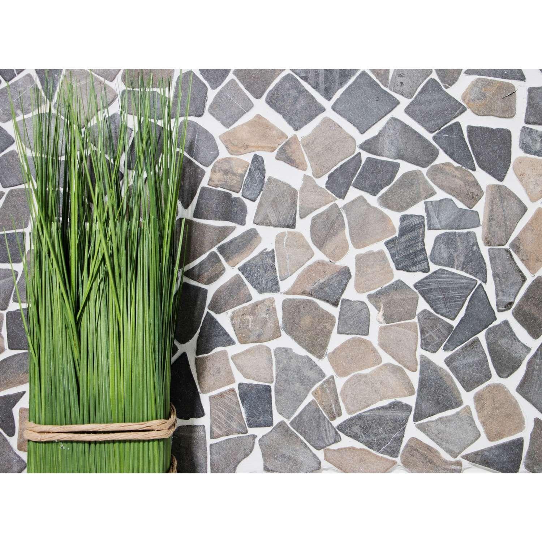 Bruchmosaik Mosaik Bruch Rustic Marble Schwarz 30x30cm