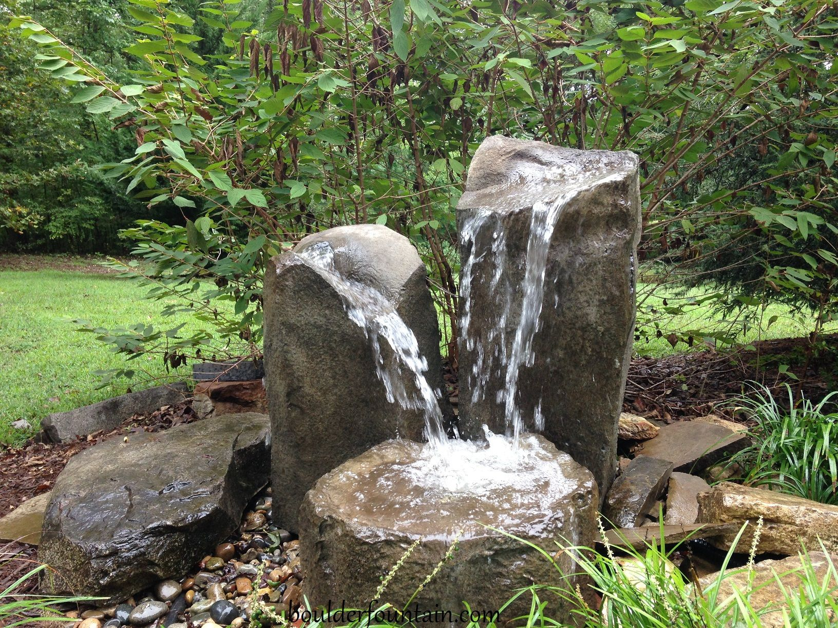 Basalt Column Fountain For More Info Including Videos Pricing Visit Us At Www Boulderfountain C Fountains Backyard Fountains Outdoor Water Fountains Outdoor