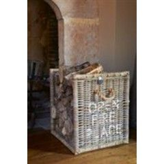 Open fire place log basket S