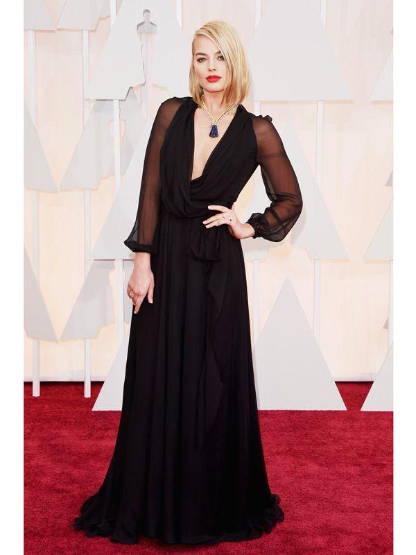 Long sleeve black dresses red carpet
