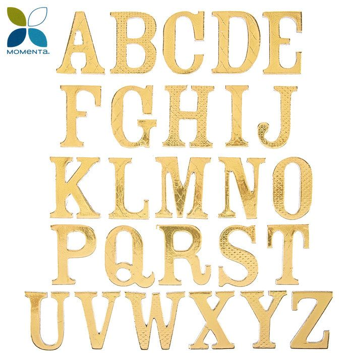 Gold Chipboard Alphabet Letter Stickers Large Lettering Scrapbook Paper Crafts Scrapbook Paper