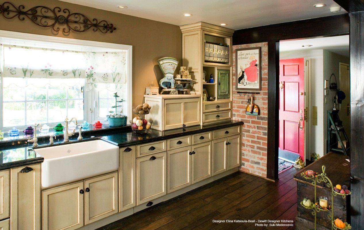 Traditional Design Portfolio Trendy Kitchen Backsplash Diy Kitchen Flooring Cream Cupboards