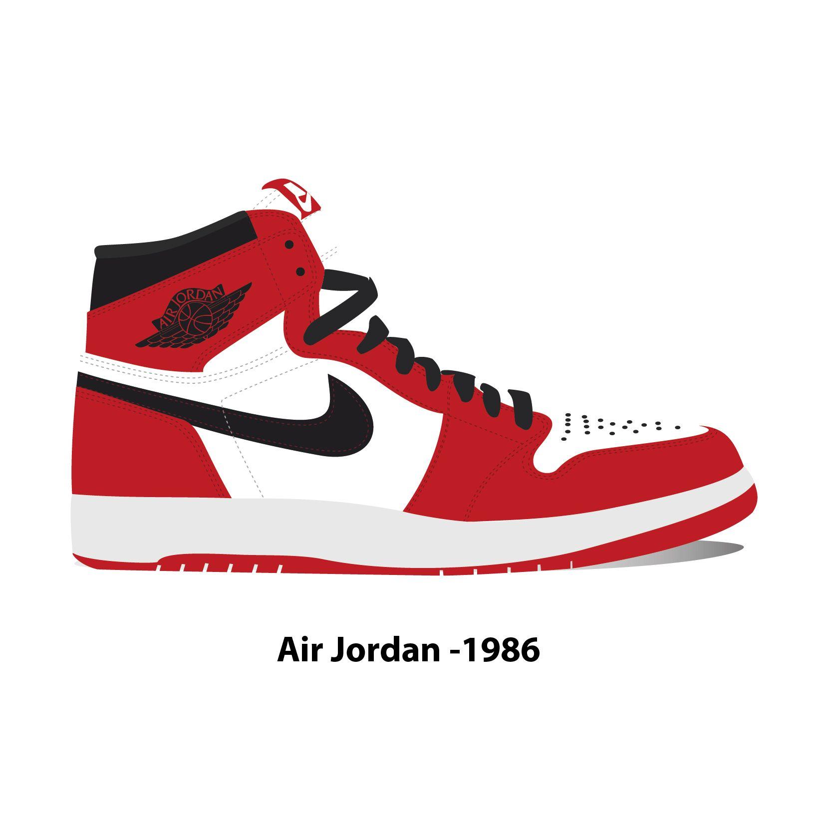 Air Jordan 1986 | Air jordans, Sneakers sketch, Sport outfit men