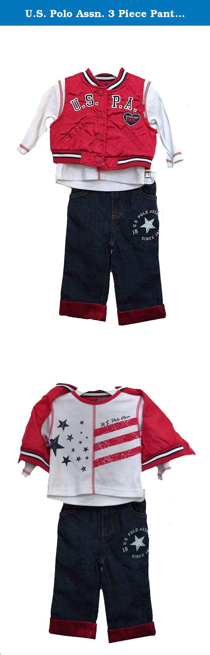 579a9227f U.S. Polo Assn. 3 Piece Pants Set Girls 6-9 Months - Sleeveless Jack ...