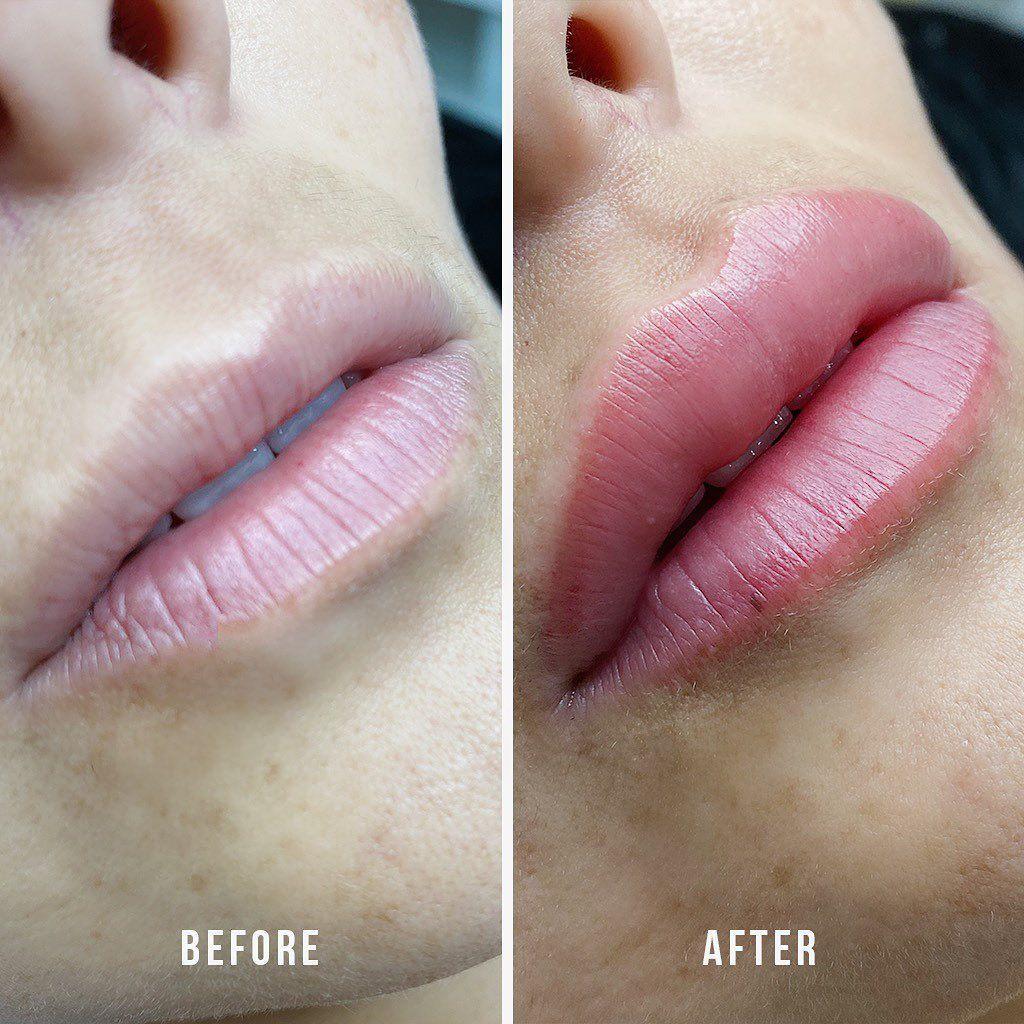 SemiPermanent Lips in 2020 Lip liner tattoo, Lip color