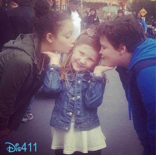 Aedin Mincks, Kayla Maisonet And Ella Anderson Enjoyed Disneyland April 14, 2013