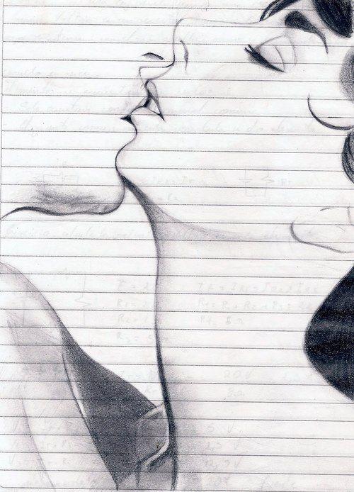 Resultado De Imagen Para Dibujos A Lapiz Tumblr Amor Dibujos A