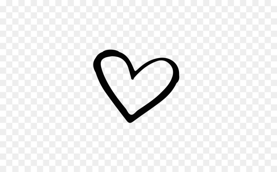 Brand Black and white Heart - Hand drawn heart-shaped vector ...