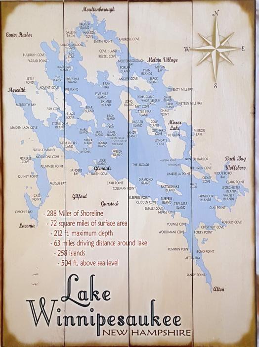Lake Winnipesaukee Sign Lake Winnipesaukee Winnipesaukee Lake