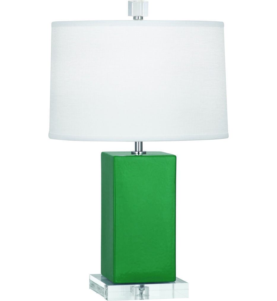 Robert Abbey - EG990 Harvey Emerald Glazed Ceramic Accent Lamp