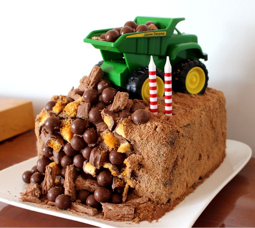 Dump Truck Birthday Cake Maybe Baby Brothers Pinteres
