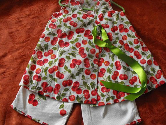 Gorgeous wraparound girls pinafore dress with matching long shorts age 2 years
