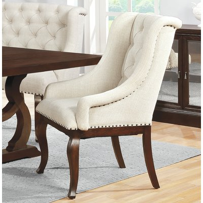 Canora Grey Thorsen Tufted Upholstered Arm Chair In Cream In 2020