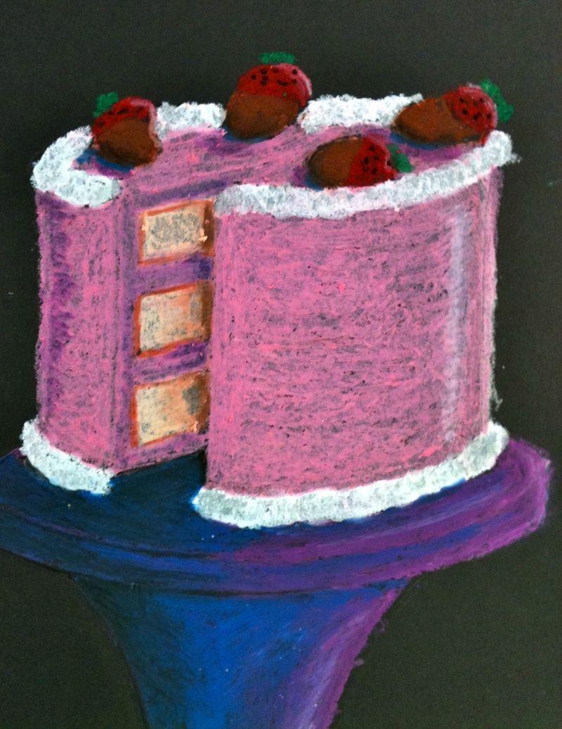 Oil Pastel Cakes   6th grade art   Pinterest