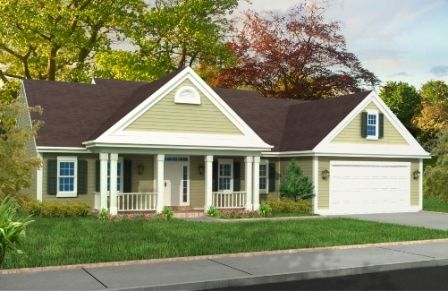 doublewide mobile home with a front porch | The Ashford | home ...