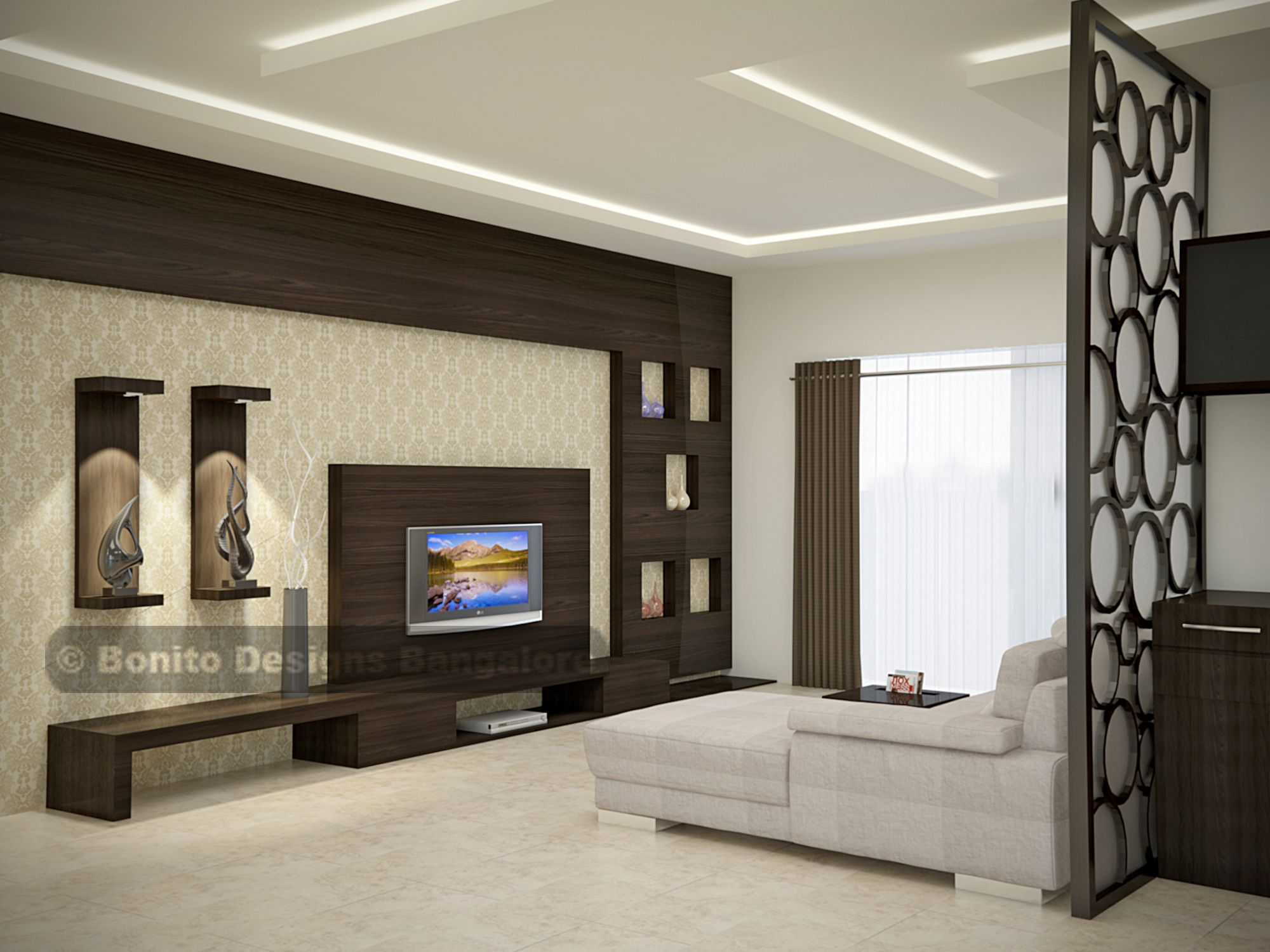 Be amazed to see this sleek modular end to end spacious - Modern tv wall unit designs for living room ...