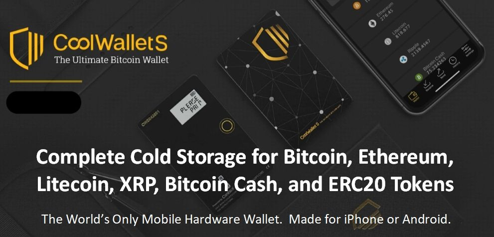 Crypto Cold Storage Wallet CoolWalletS Best wallet, Cool