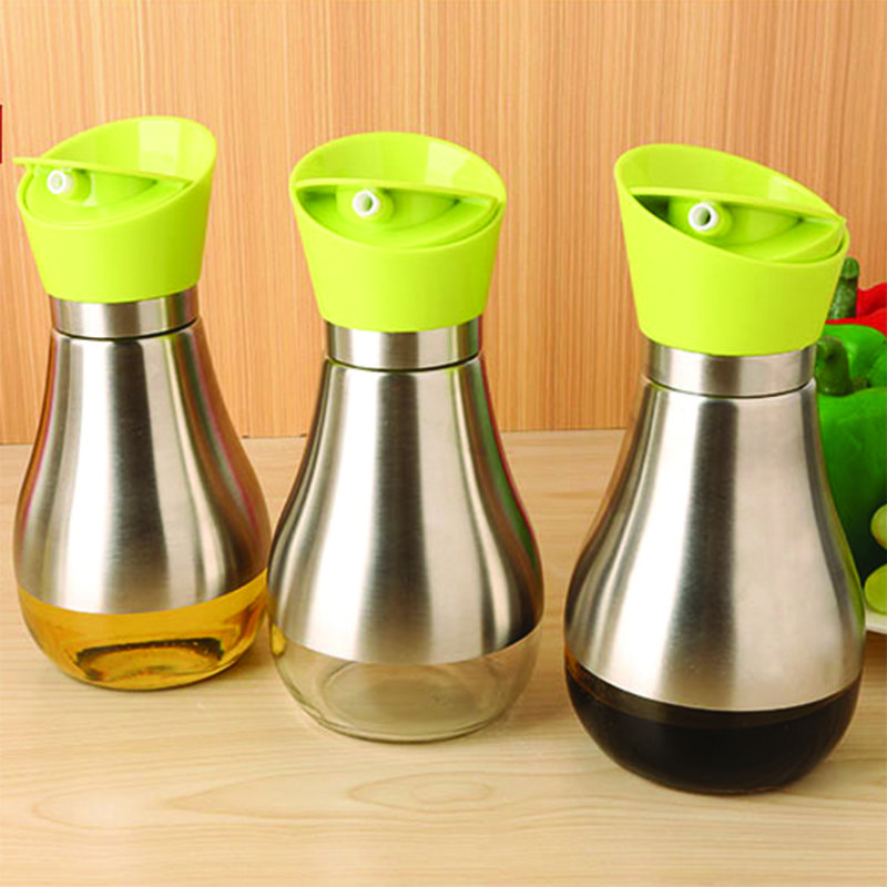 Kitchen Cooking Baking Essential Ware Silver Stainless Steel Olive Oil  Bottle Jar Pot Flask Tool Can Oil Bottles Cookware Kitchen Dream **  AliExpress ...
