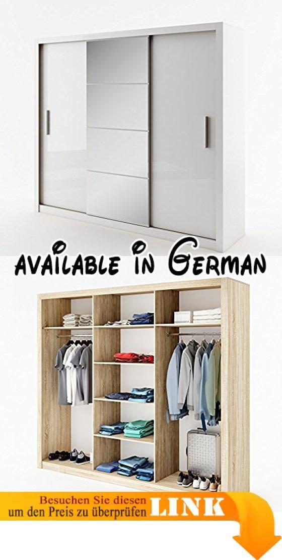 B01M0H0JF3 : Schwebetürenschrank Kleiderschrank ID-01 IDEA Garderobe ...