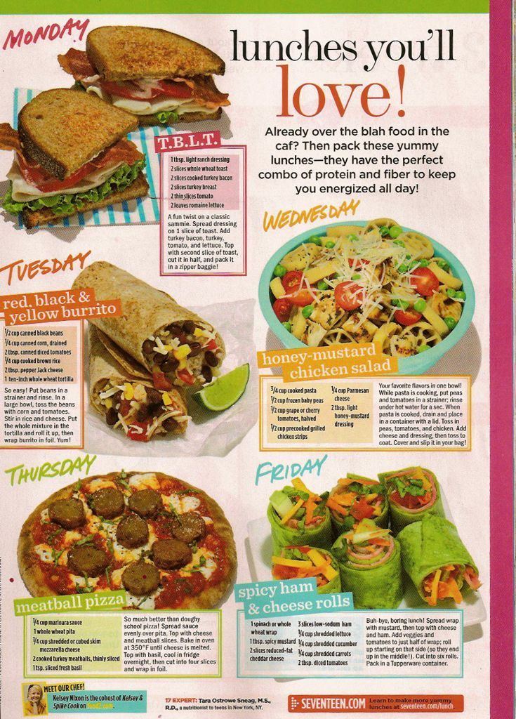 Seventeen magazine page google search food choices pinterest lunch snacks forumfinder Images
