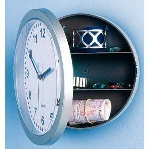 Wall Clock With Hidden Compartment Secret Hiding Places