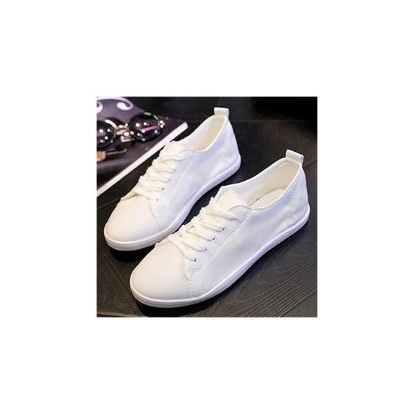 Paneled Lace-Up Sneakers (€35) ❤ liked on Polyvore featuring shoes, sneakers, footware, laced sneakers, lace up sneakers, lacing sneakers, women shoes and laced up flats