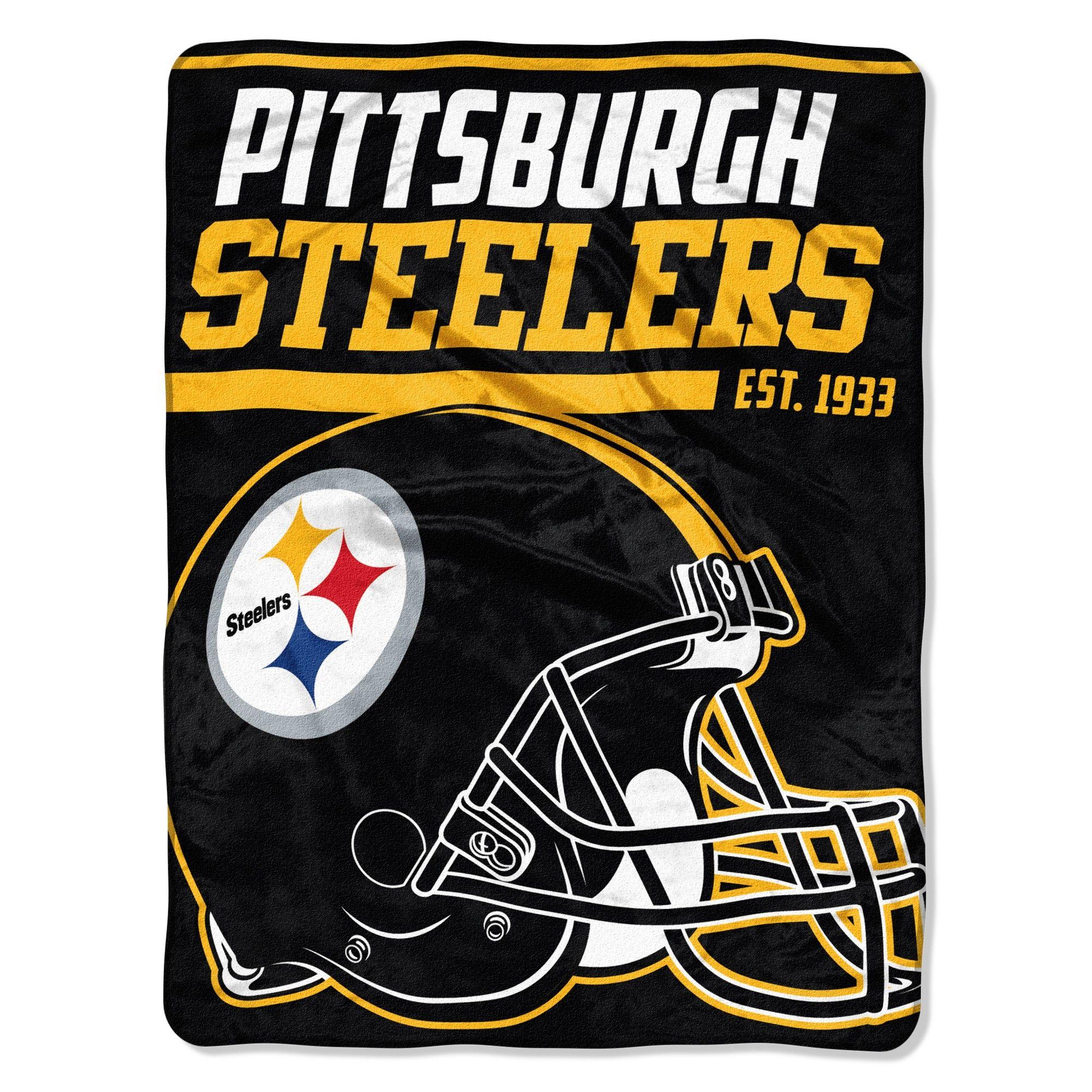 NFL Pittsburgh Steelers Micro Fleece Throw Blanket  93c602fd4