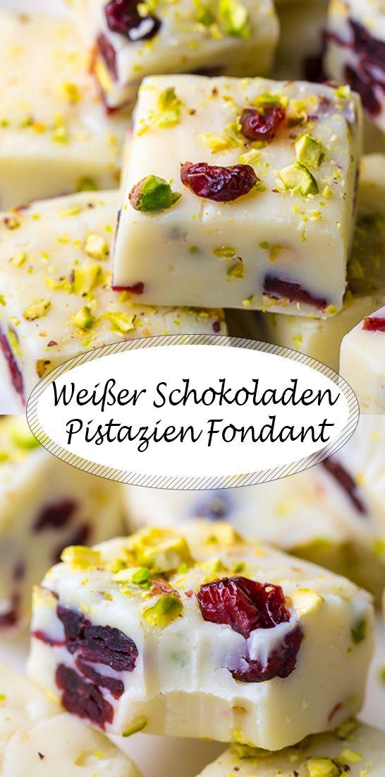 Einfaches Rezept für Weißer Schokoladen Pistazien Fondant  #fondant