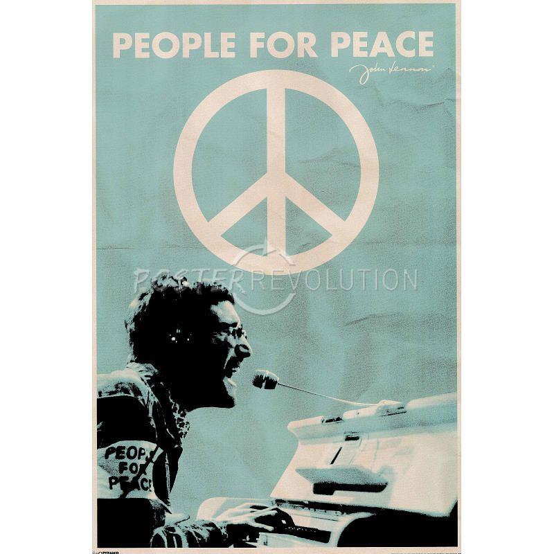 John Lennon (People for Peace) Music Poster