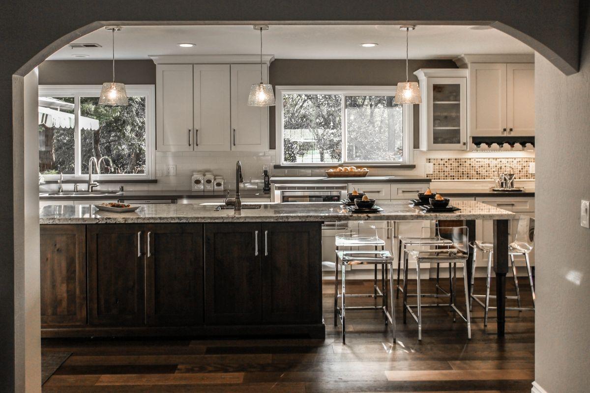 Kitchen Open Plan With Dark Cabinet: Kitchen Stories: Planning For An Open Floor Plan In 2019