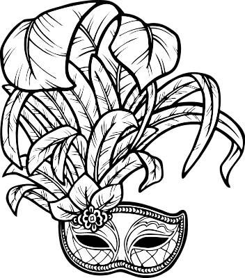 31+ Mardi gras mask clipart black and white info