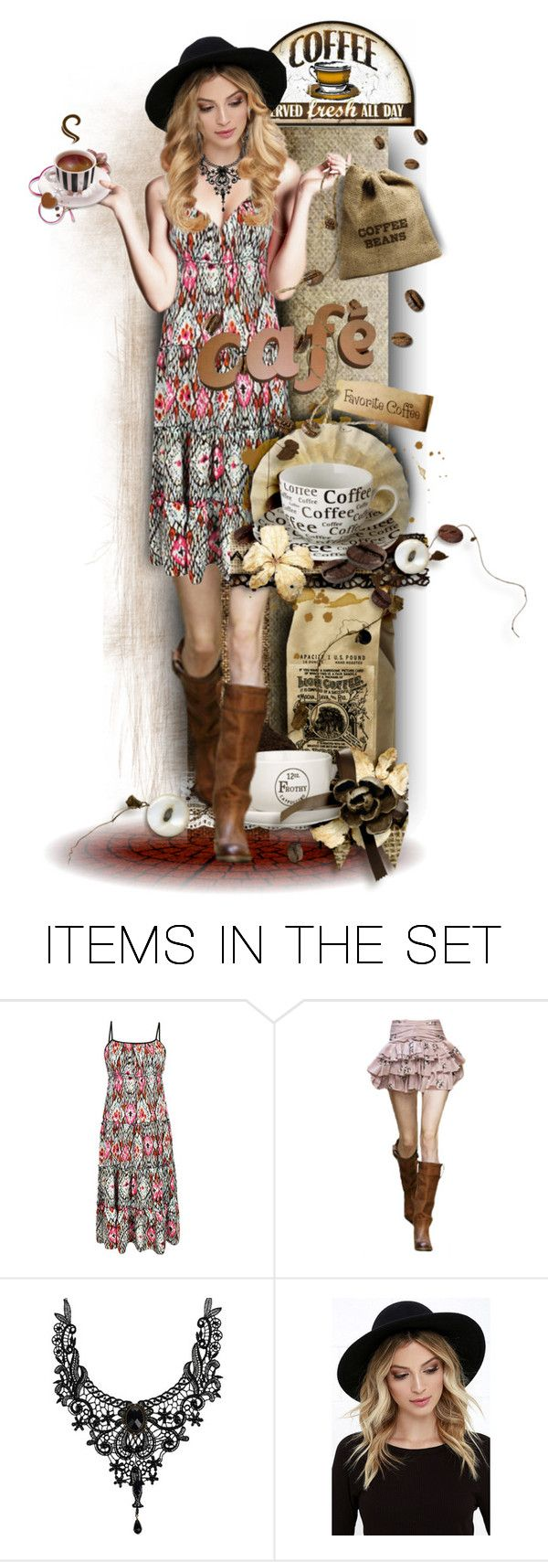 """Boho Cafe"" by tracireuer ❤ liked on Polyvore featuring art"