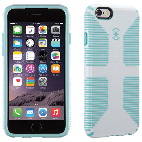 new style 2c594 eb30b Speck iPhone 6/6s CandyShell Grip Case - White/Blue : iPhone 6/6s ...