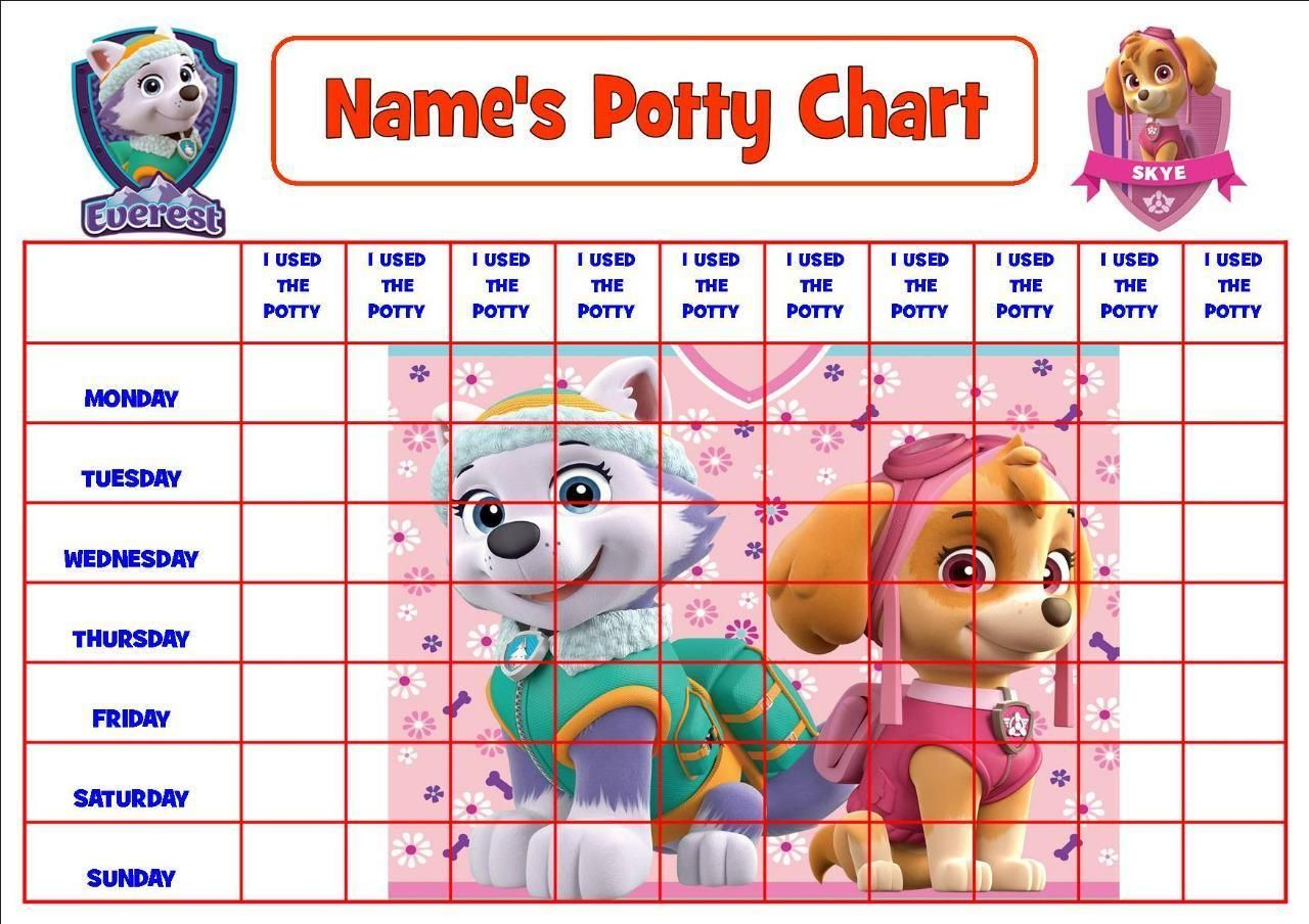 163 2 97 Gbp Paw Patrol Pink Personalised Potty Toilet