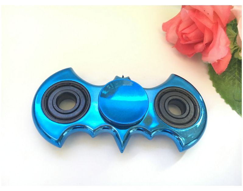 Gold Plating Bat Shape Tri Fidget Hand Spinner Batman EDC Finger Toys Relieve Anxiety Autism ADHD For Child Adult