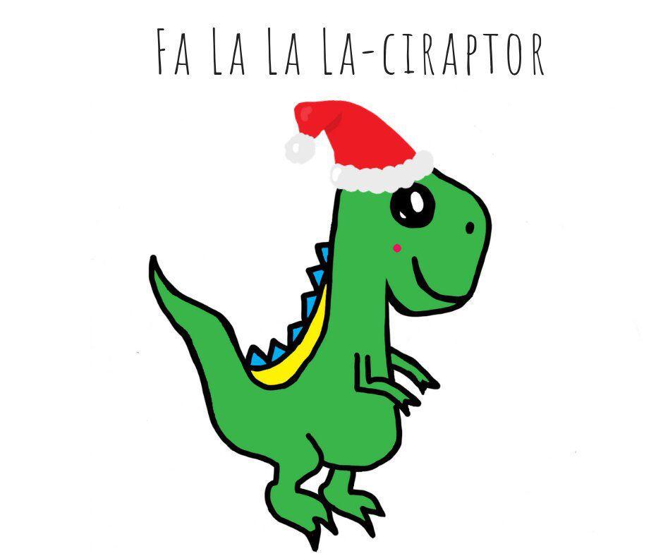 Christmas dinosaur holiday card seasons greetings