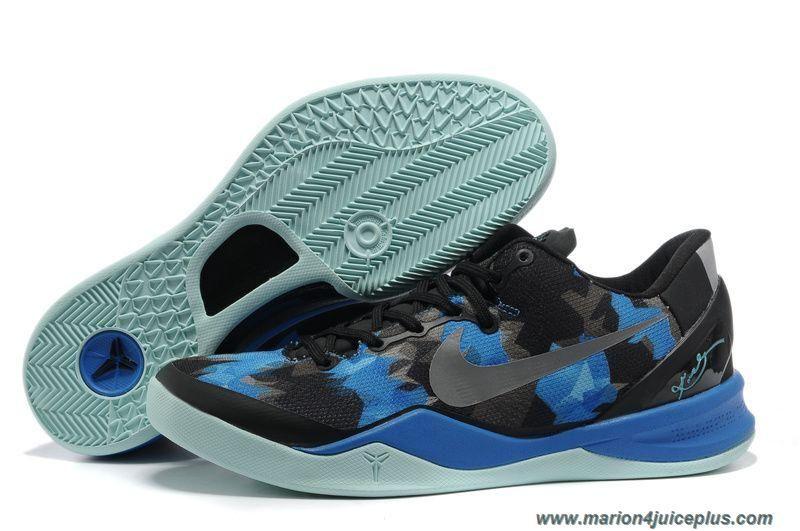 Cheap Black Blue Jade Basketball Shoes Style Nike Zoom Kobe 8 (VIII) 555035 707