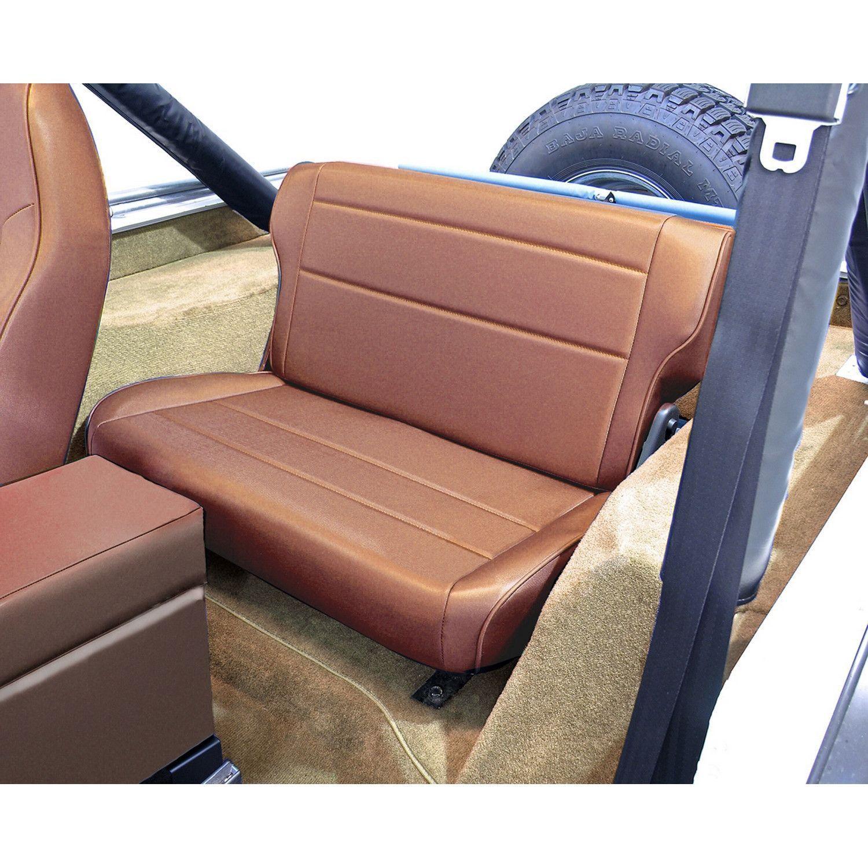 Fold And Tumble Rear Seat Tan 76 95 Jeep Cj Wrangler Yj Jeep Seats Jeep Cj Rear Seat