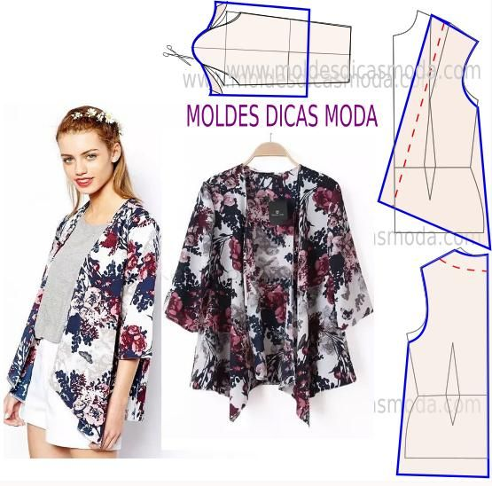 CASACO FÁCIL DE FAZER 6 | Moldes Dicas Moda