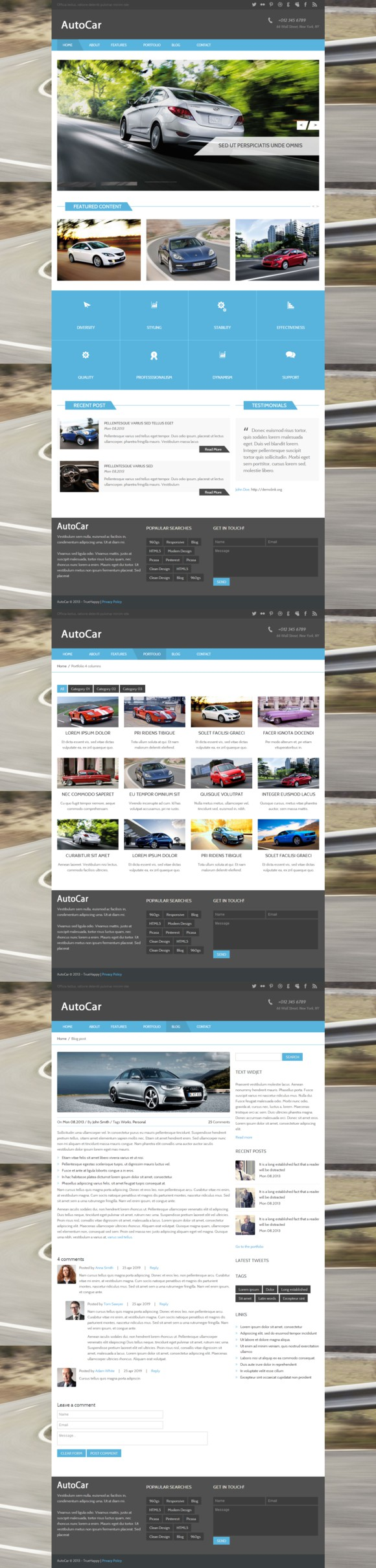 Autocar - Bootstrap HTML Template. Bootstrap Templates. $8.00 ...