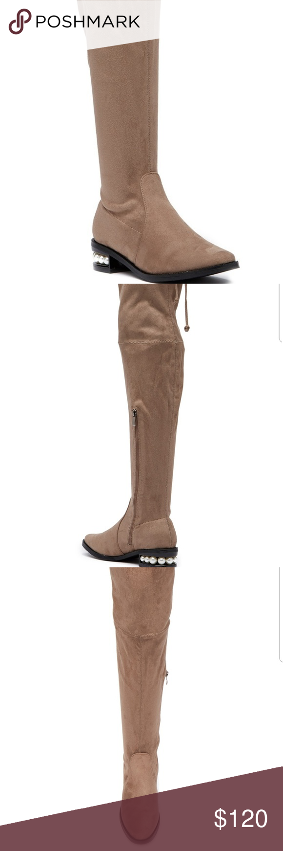 a8a683239c9 Catherine malandrino perse taupe over knee boots NEW IN BOX Catherine  Catherine malandrino perse embellished over the knee boots taupe color size  6 ...