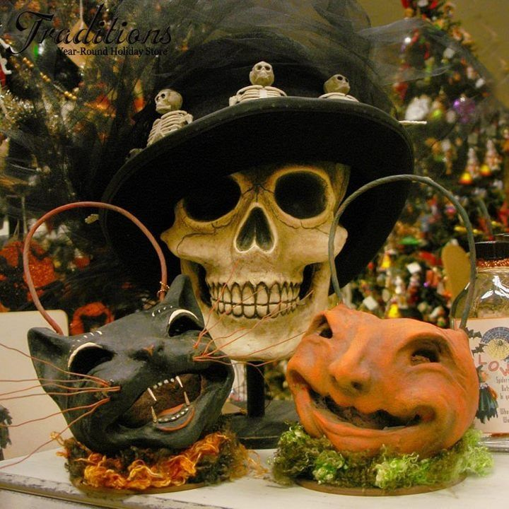 Vintage Halloween decor - love the skeletons gat All Things - halloween decorations skeletons
