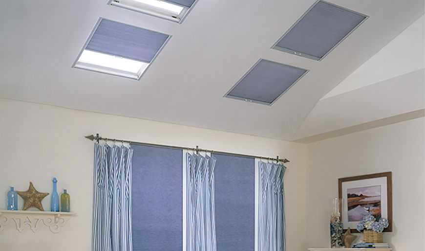 Blinds For Skylights With Remote Control Solar Charging Skylight Design Cellular Shades Cell Shade