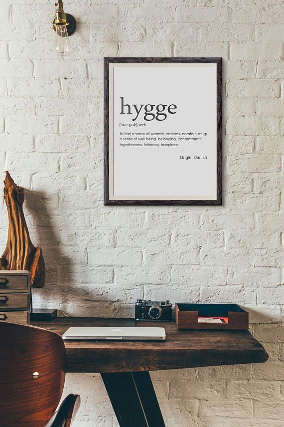 Hygge dictionary style art print outhousebyhand on etsy a place to call home pinterest hygge outdoor retreat and art decor