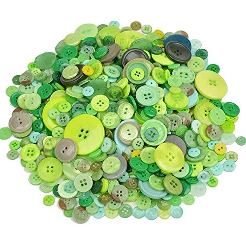 2 Holes Buttons for Sewing Crafts DIY Projects Souarts 50pcs Mixed Random Christmas Wooden Buttons Tree Stocking Snowman