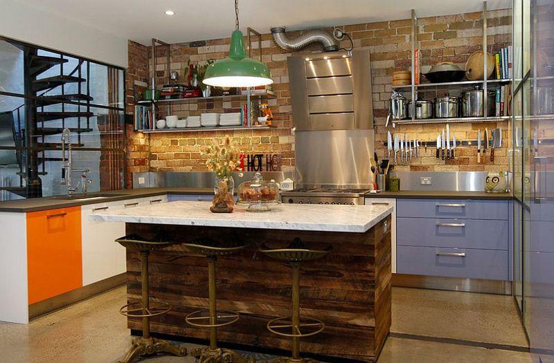 Drewno Z Odzysku Z Kuchni Fronty Ze Starego Drewna Industrial Style Kitchen Industrial Kitchen Design Kitchen Design